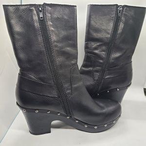 KORKS KORK-EASE platform boots wedges black…